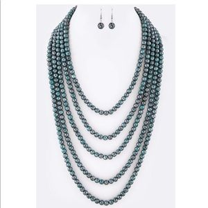 Navajo Layered Beaded Necklace Set